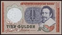 Netherlands 10 Gulden Banknote 1953|World Banknotes ...
