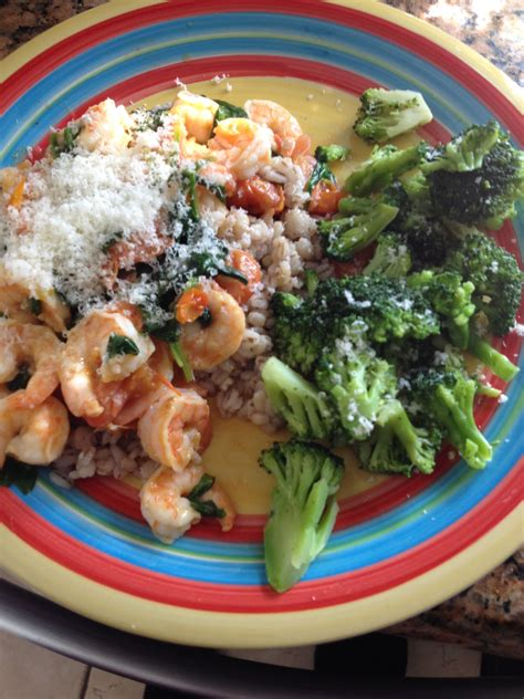 fix approved shrimp red spinach basil  tomatoes