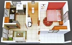 50 plans en 3d dappartement avec 1 chambres With charming plan maison 3d gratuit 14 maison 2 appartements top maison
