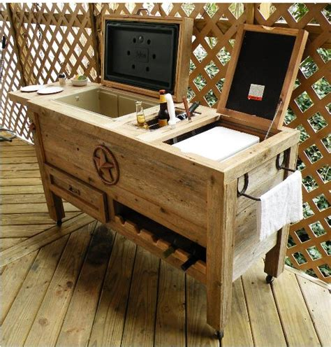 ice chest outdoor drawer tool patio non stick topper wok cooler bar kitchen table coolers diy outside box wood deck