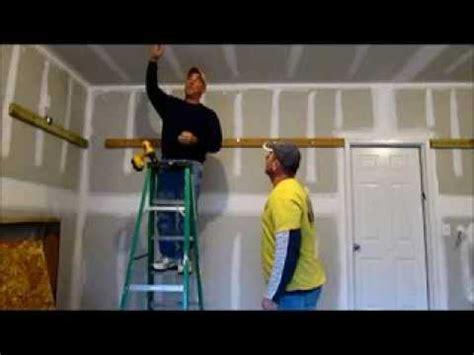 install storage shelves   garage youtube