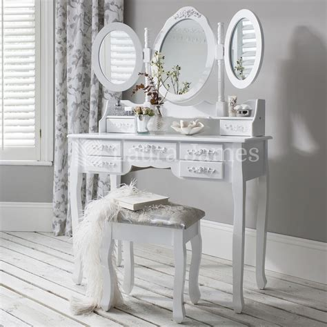 Dressing Table With Mirror And Stool by White Dressing Table Mirror Stool Set 7 Drawer Dresser