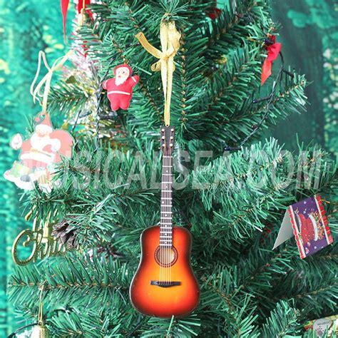 miniature guitar christmas decoration supplies type
