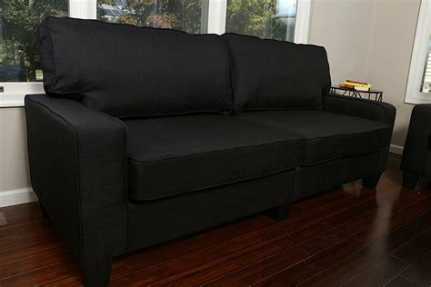 Sofa For Apartment Living by Black Fabric Sofa Seat College Apartment