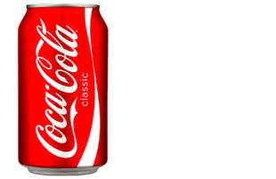 Standard Coca Cola Can Actual Size Image
