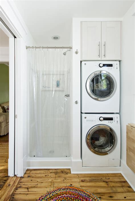 laundry in bathroom ideas bathroom washer and dryer transitional laundry room nantucket architecture group