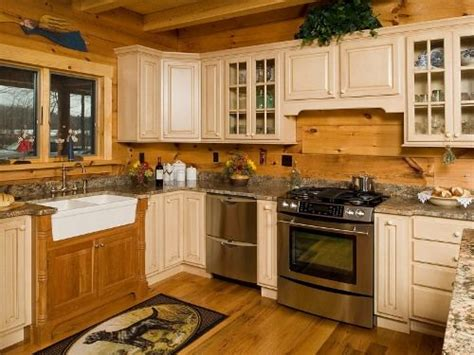 log home kitchen cabinets beautiful artistic log cabin kitchen in the kitchen 7153