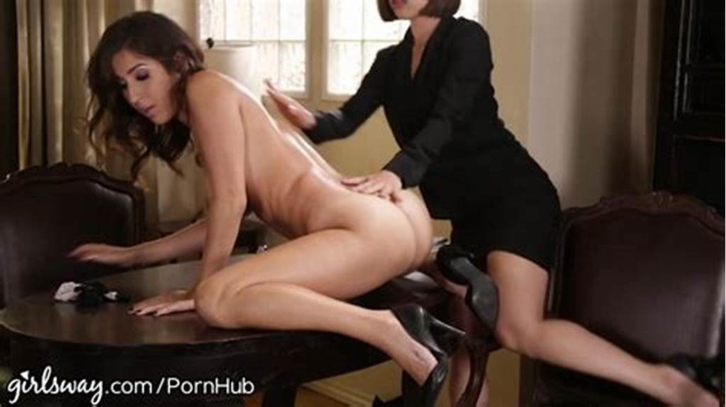 #April #O'Neil #Punished #By #Lesbian #Boss #For #Slutty #Dress