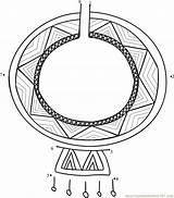 Necklace Maasai Dot Worksheet Connect Dots Kenya Printable sketch template