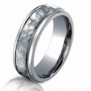 b73180ti titanium classic hammered wedding ring With hammered wedding rings