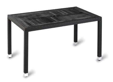 ville outdoor rectangular wood effect table simply