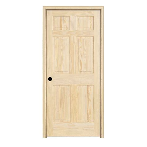 home depot doors interior pre hung jeld wen 30 in x 78 in woodgrain 6 panel unfinished pine single prehung interior door 951108