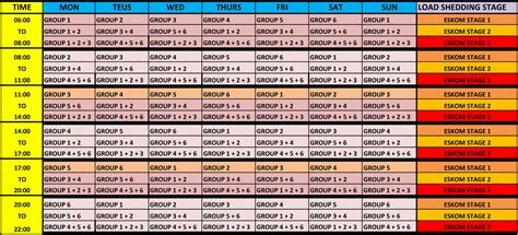 new schedule of load shedding load shedding schedule for rustenburg