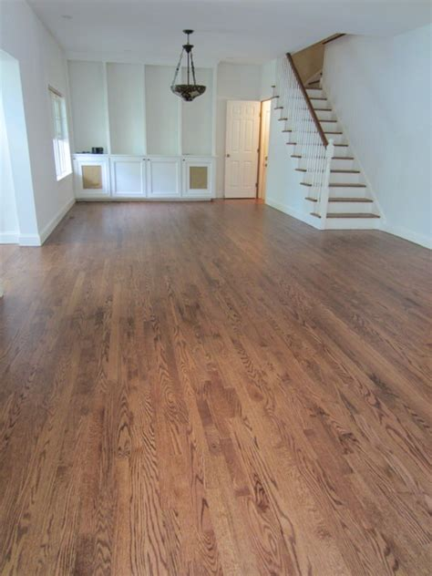 westhton red oak stained early american and bona