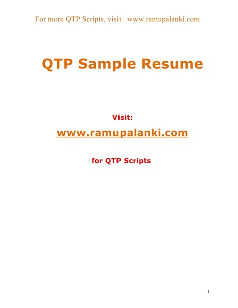 Usage Of On Error Resume Next In Qtp by Qtp Sle Resume