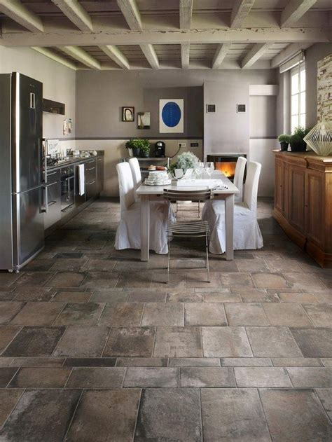 tiled kitchen floors 25 best look porcelain tile images on 2787