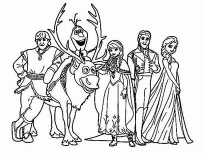 Frozen Coloring Disney Mewarnai Gambar Kartun Princess