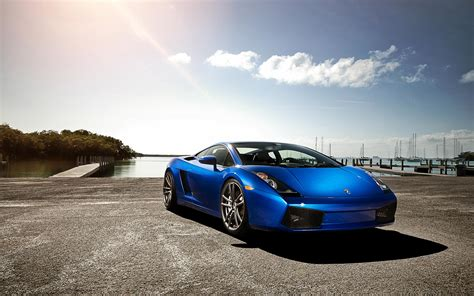 Blue Lamborghini Hd Wallpapers by Pictures Of Blue Lamborghini Hd Desktop Wallpaper