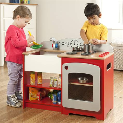 Kids Play Kit Wooden Red Country Play Kitchen By Millhouse