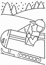 Snowmobile Coloring Access Easy sketch template