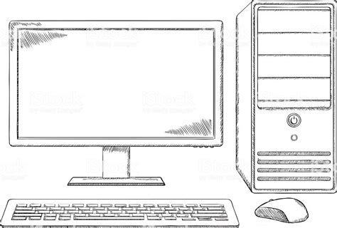 Draw Computer And Parts Label Desktop