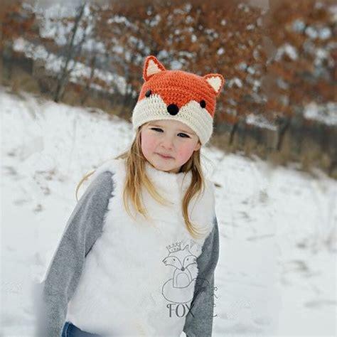 ianlan autumnwinter lovely children  fox beanies cute girls knit wool hats warm kids caps