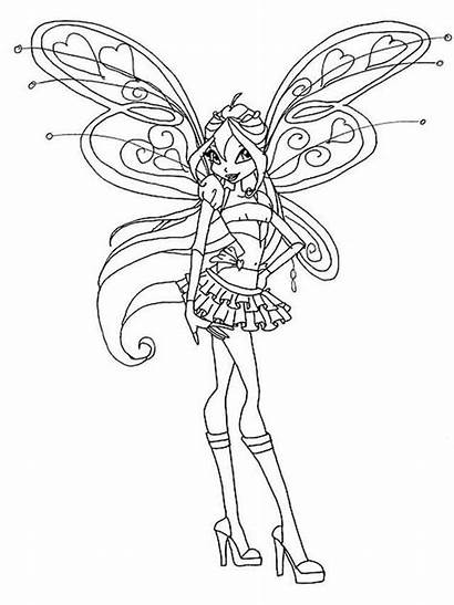 Winx Coloring Bloom Pages Club Printable Colors