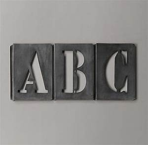 92 best images about numbers stencils letters on With restoration hardware metal letters