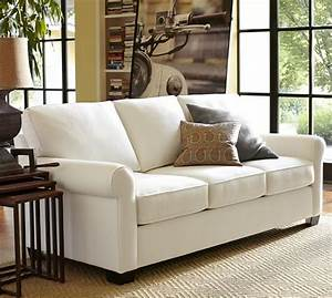 buchanan roll arm upholstered sofa pottery barn With buchanan sectional sofa pottery barn