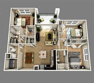 3 bedrooms apartments http wwwdesignbvildcom 4350 3 With plan de maison design 0 single family home photorealistic renderings and 3d
