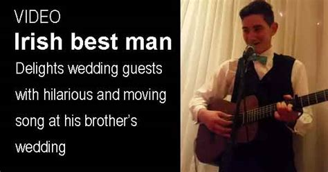 Irish Best Man's Song Wows Wedding Guests