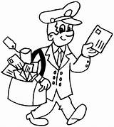 Postman Coloring Kleurplaten Beroepen Juf Milou Postbode Jobs Tekeningen Dibujos Colorear Profesiones Oficios Printable Drawings Kleurplaat Ninos Cartoon Bordado Filatelia sketch template