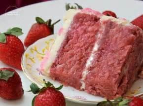Birthday Cake with Fresh Strawberries