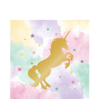 sparkling unicorn lunch napkins ct party city