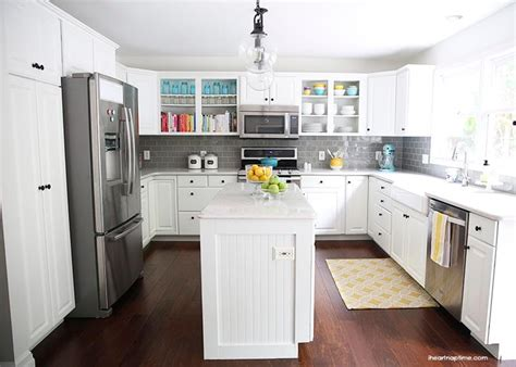 White And Grey Kitchen Makeover  I Heart Nap Time