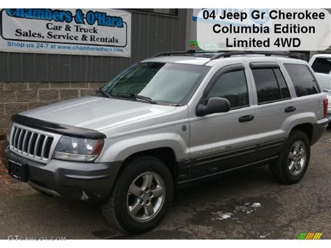 silver jeep grand cherokee 2004 2004 bright silver metallic jeep grand cherokee columbia