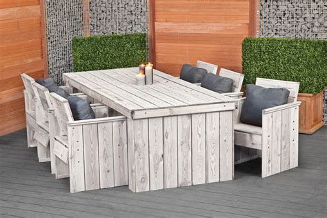 rustic garden dining set furniture