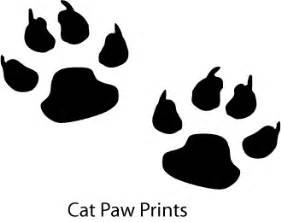 cat paw vs paw available cat silhouettes