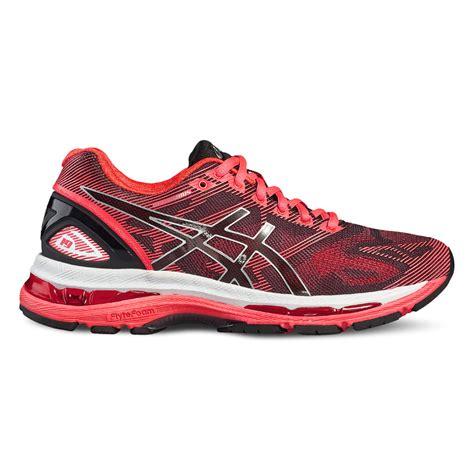 uk asics shoes salomon socks asics gel nimbus 19 womens running shoes black pink