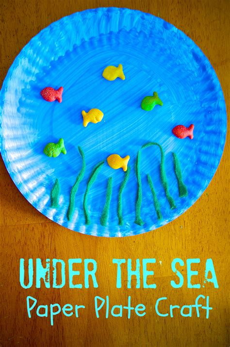 the sea paper plate craft 395 | Under the Sea Paper Plate Craft for Kids