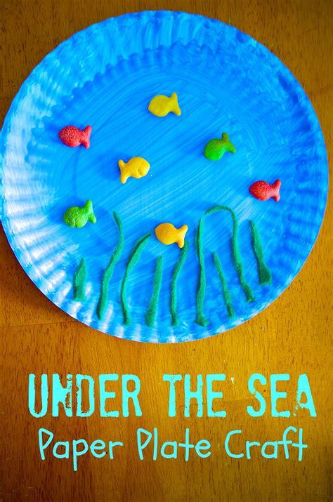 sea ocean paper plate craft  preschool kids