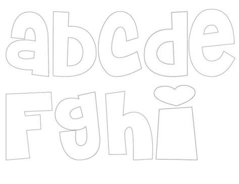 letras abecedario moldes