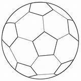 Coloring Soccer Ball Pages Printable sketch template