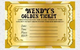 Free Printable Wonka Golden Ticket