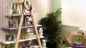 DIY: How to Use Old Fashioned Ladders for Shelving - YouTube