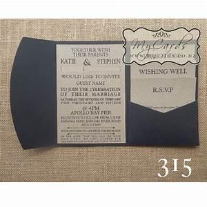 a6 pocketfold with kraft inserts wedding invitation 315 With a6 size wedding invitations
