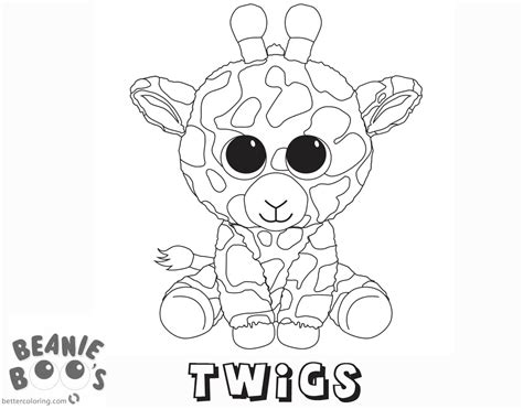 Kleurplaten Ty Beanie Boos by Beanie Boo Coloring Pages Twigs Free Printable Coloring