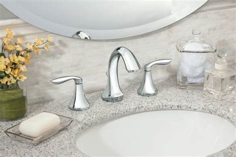 moen  eva  handle widespread lavatory faucet trim