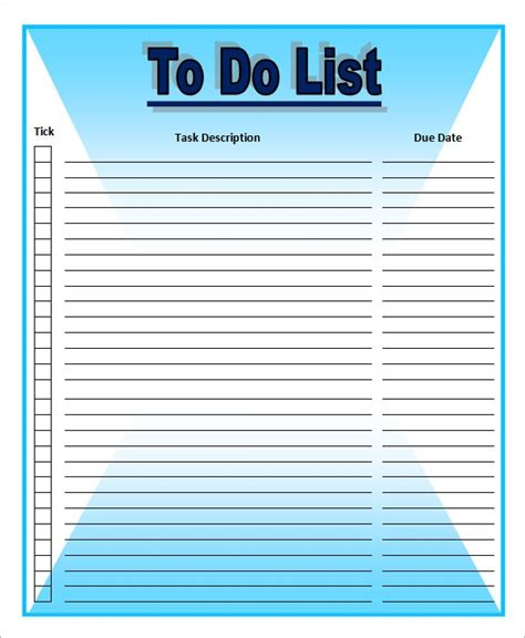 List Template Download Free Documents Word