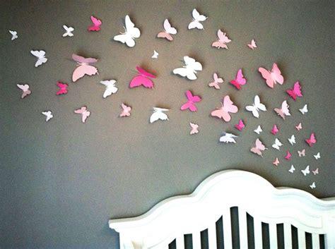d oration papillon chambre fille papillons en papier sur mur de chambre d 39 enfant